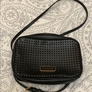Black perforated Marc by Marc Jacobs camera bag